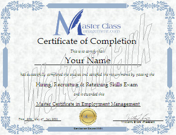 Business management certification course certificate of completion this master certificate in employment management will be in your name and sent to you in soft copy pdf format by e mail within 24 hours for only 19 usd yelopaper Gallery