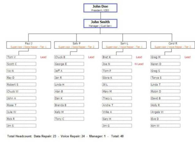organizational chart template word .