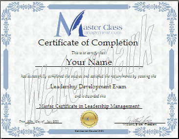 Business management certification course certificate of completion we also offer individualized certificates of completion based on each of the 10 lessons presented in the course yadclub Gallery