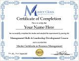 Online Management Course Certificate of Completion