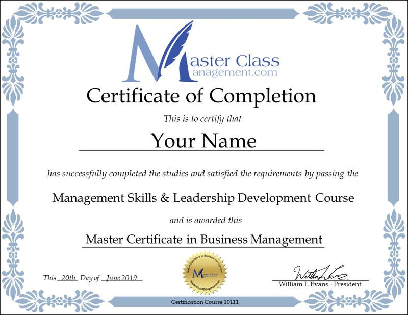 Free Online Business Management Training Course with